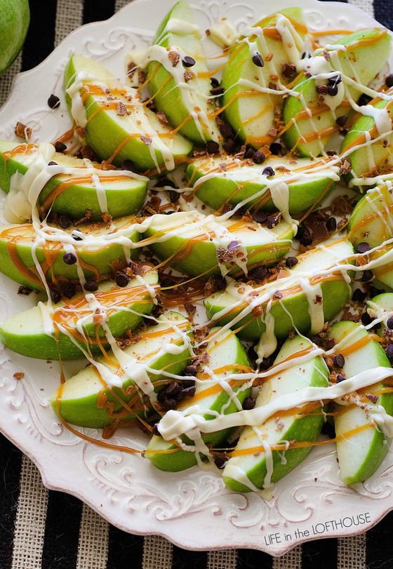 Caramel Apple Nachos Dish!!