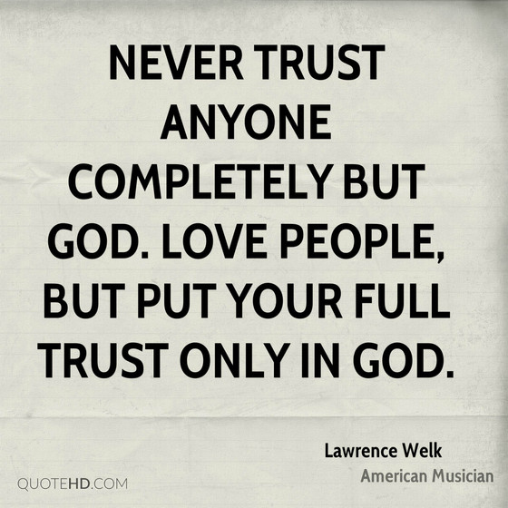 Are You Trusting God?