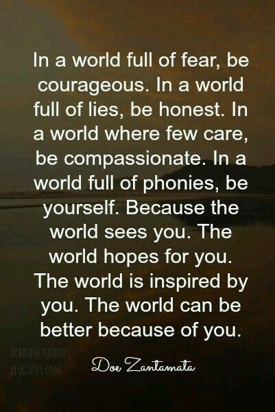 How are you making this world a better place?