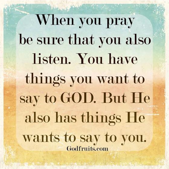 Listen to God!!