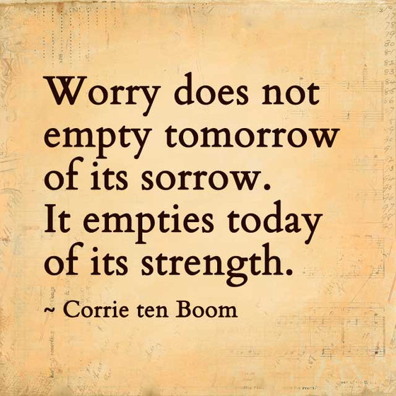 Are you a worrier?
