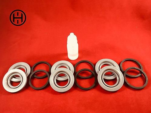 30mm/32mm/34mm Stoptech/Brembo Front Brake Caliper 6-Piston Rebuild Kit