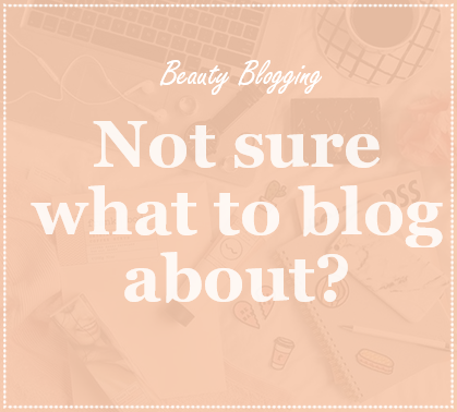 Not sure what to blog about