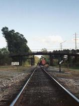 Old Bridge with Tracks