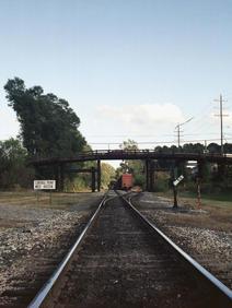 Old Bridge with Track