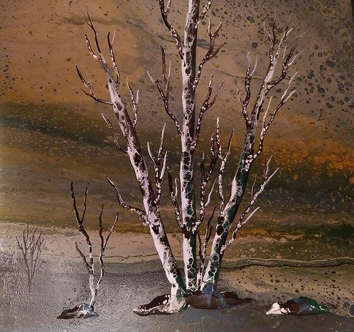Landscape Pour Painting Class
