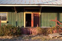 Front Door with Broom