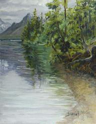 Along the Shore Lake MacDonald, GNP