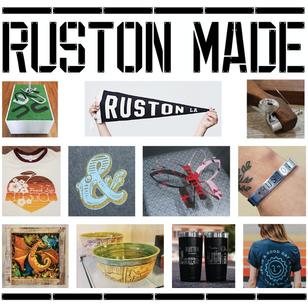 RUSTON MADE: Handmade Ruston merchandise