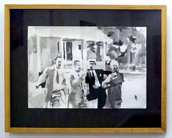 4 Men Standing in Front of House
