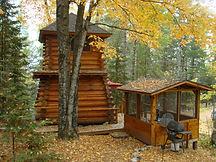 Unique Log Cabin on Lake