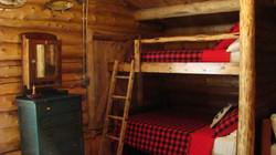 Built-In Log Bunk Bed