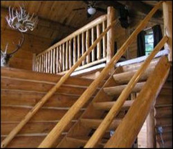 Log Staircase to Loft
