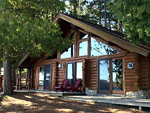 Log Cabins on a lake
