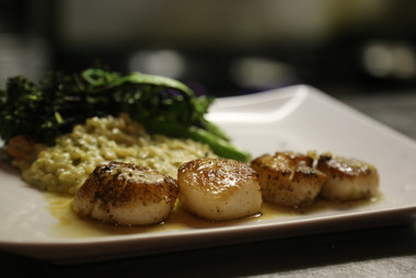 Diver's Scallops served with Meyer Lemon Beurre Blanc