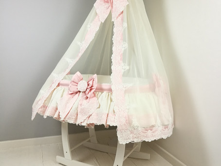 Dreamy pink silk bows, lace and ruffles..
