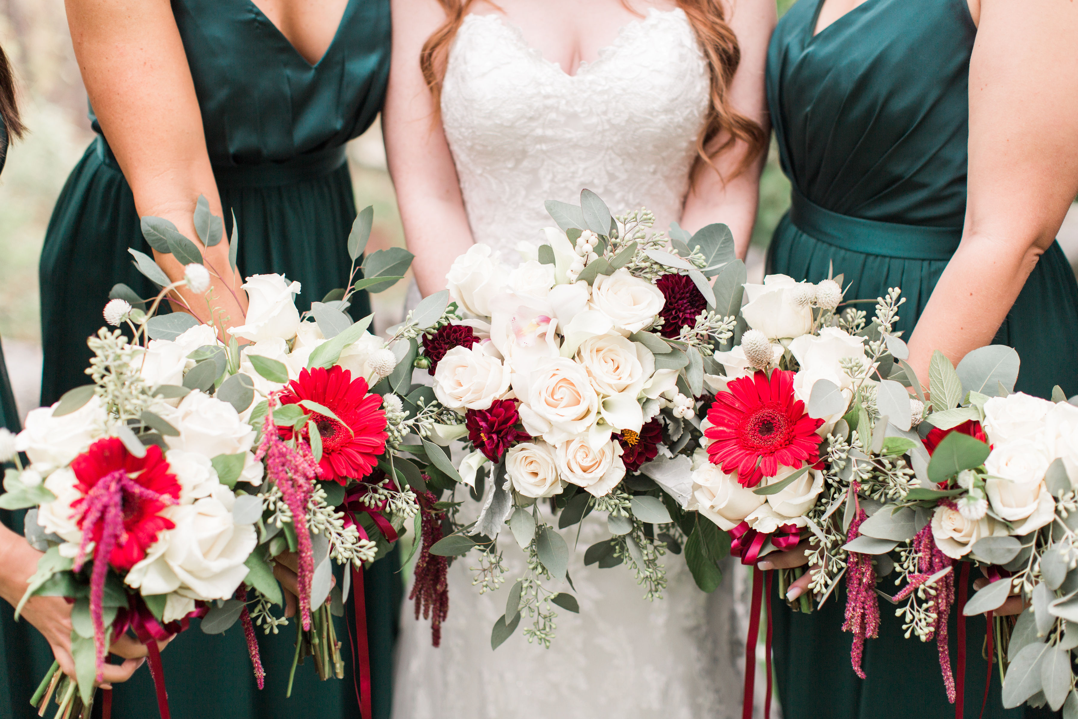 Emerald Green + Burgundy DIY Wedding