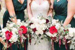 Emerald Green + Burgundy DIY Wedding