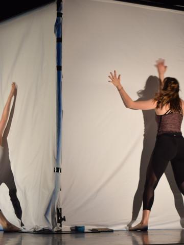 Performers Jacinta Pasco and Olivia Adams Rehearsing