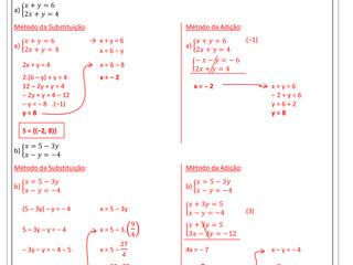 Gabarito Exercícios de Matemática