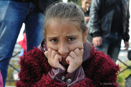 Syrian refugees protest in Athens