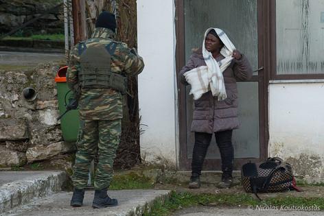 Migrants cross Evros river to enter Greece