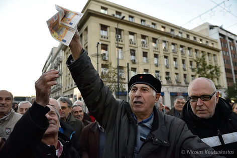 Pensioners hold anti-austerity protest in Athens