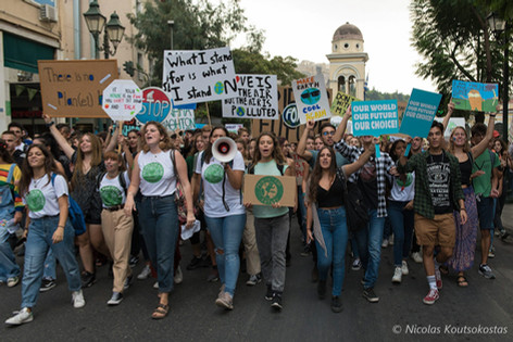 Fridays for Future march in Athens