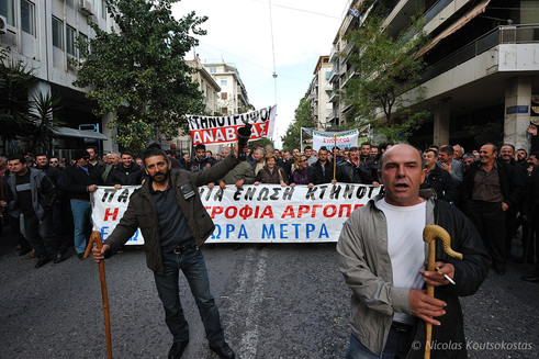 Livestock farmers demand payment of subsidies in Athens
