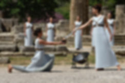 Rehearsal of The Lighting Ceremony of the Olympic Flame in Ancient Olympia