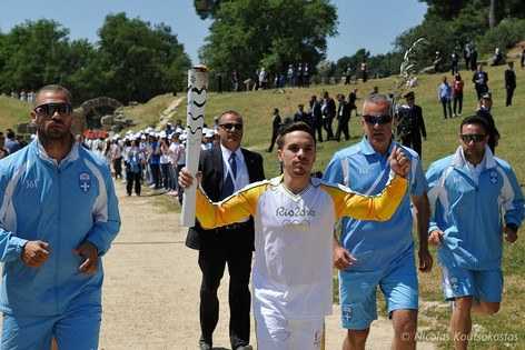 Lighting Ceremony of the Olympic Flame in Ancient Olympia