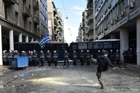 Greek farmers protest in Athens