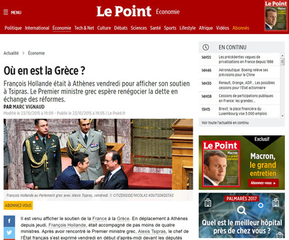 Le Point. 23 October 2015.