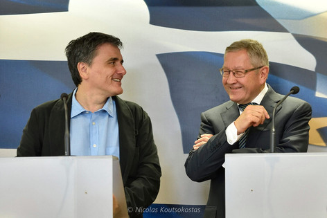 ESM Managing Director Klaus Regling meets Greek Finance Minister Euclid Tsakalotos in Athens