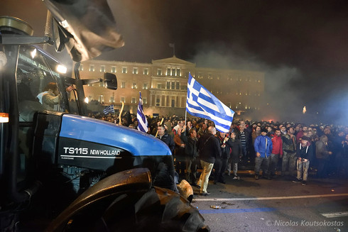 Greek farmers stage tractor protest in Athens
