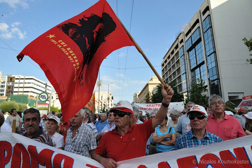 Pensioners protest in Athens