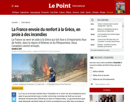 Le Point. 17 July 2015.