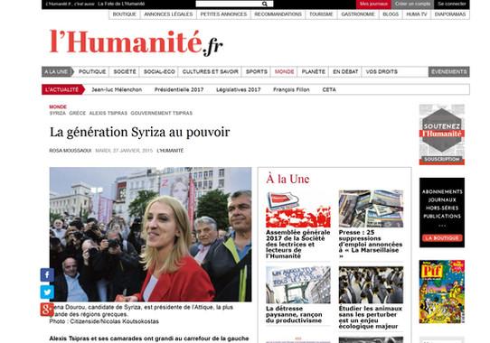 L' Humanite. 27 January 2015.