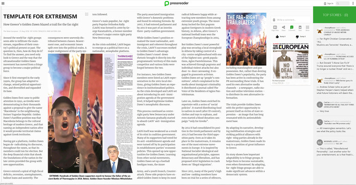 Pressreader (The New European). 23 August 2018.