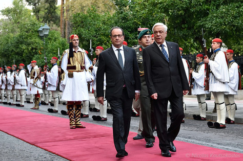 French President Francois Hollande in Athens