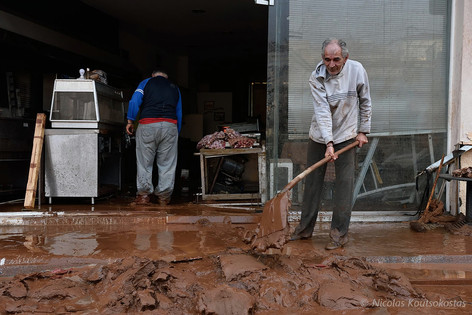 Deadly flash floods hit the town of Mandra