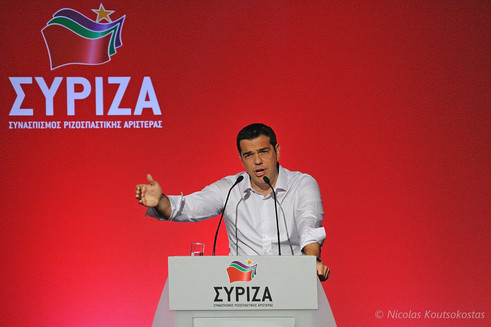 Alexis Tsipras addresses Central Committee of SYRIZA in Athens