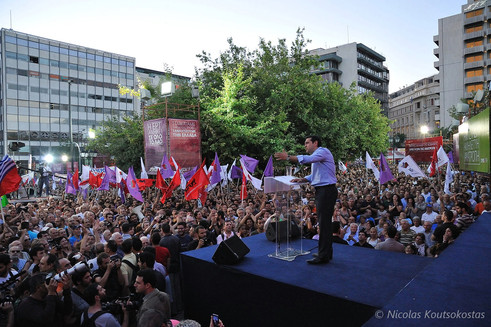 Alexis Tsipras demands early elections in Athens rally