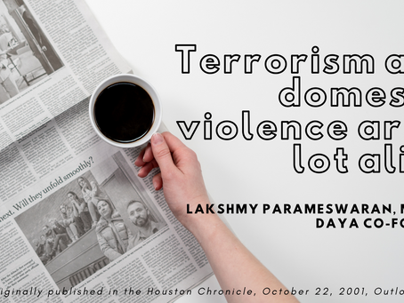 Terrorism and domestic violence are a lot alike