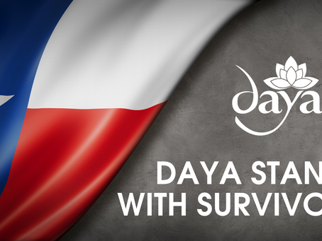 Daya Stands with Survivors in Texas