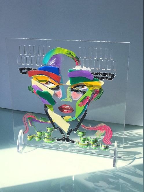 Recycled - Plexiglass monster gr.