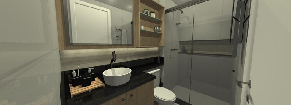 Banheiro Suíte - Santa Rosa