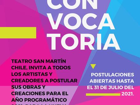 TEATRO SAN MARTÍN LANZA CONVOCATORIA PROGRAMACIÓN TEMPORADA PANDEMICA 2021