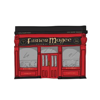 Fibber magee illustration for Wine Inns