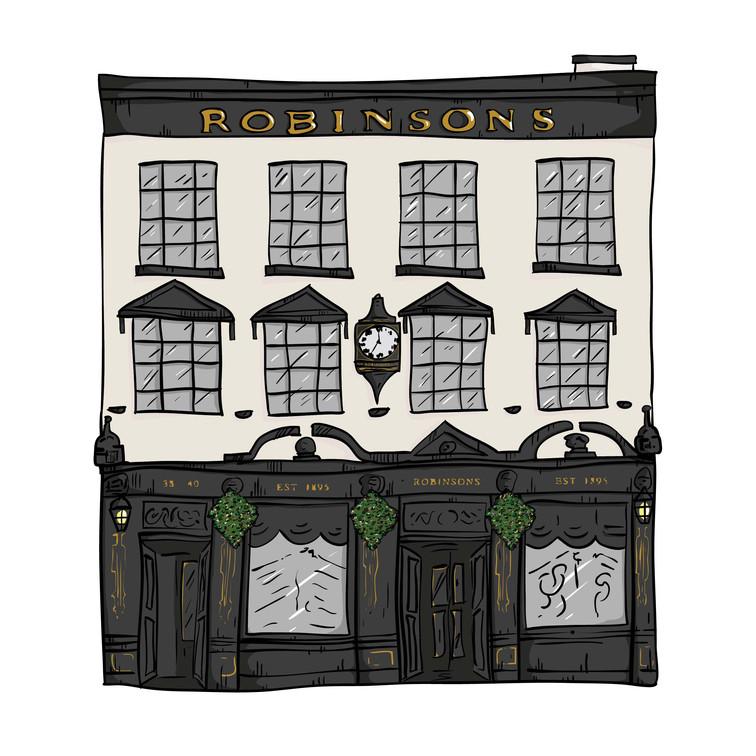 Robinson's illustration for Robinson's bar